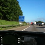 A blue day on the M25